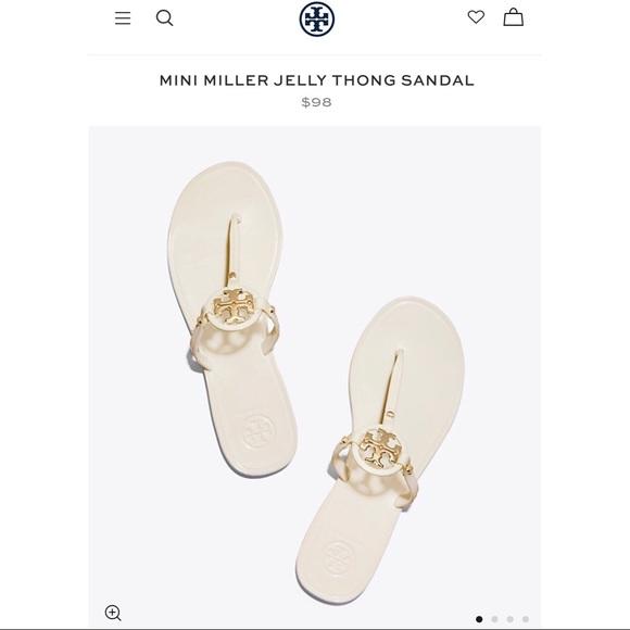 991d258c26f Tory Burch Mini Miller Jelly Thong Sandals  IVORY .  M 5b73503b7ee9e229041abace